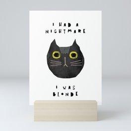 Blonde Cat — poster, cat, art print, pictures, scandinavian, nursery, deco, family, art, animal, cat Mini Art Print