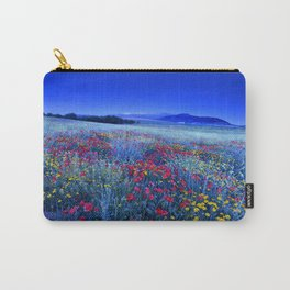 Spring poppies at blue hour Carry-All Pouch