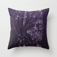 constellation Throw Pillows featuring Constellation by Zak Rutledge