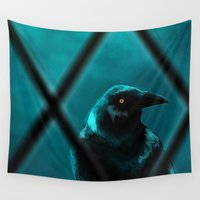 crow Wall Tapestries featuring crow by Cardinal Design
