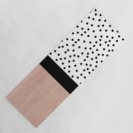 Pink marble and dots Yoga Mat