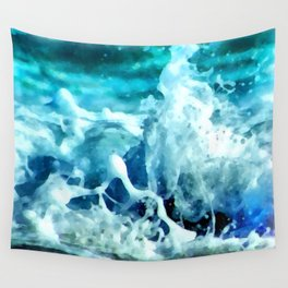 Sea Splash Watercolor Wall Tapestry