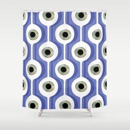 Eye Pod Purple Shower Curtain