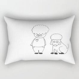 Glenn & Glenndog Rectangular Pillow