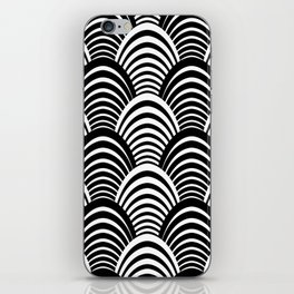 Black and White Art Deco Pattern iPhone Skin