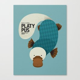 Hello Platypus Canvas Print