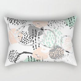 Brice - abstract minimal modern painting home decor minimalist art Rectangular Pillow