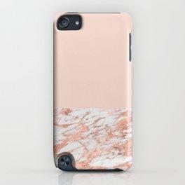 Blush massarosa - rose gold marble iPhone Case
