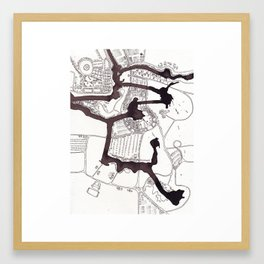 Radial Planning (Cityspace #25) Framed Art Print
