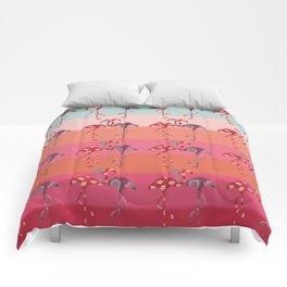 Ombre Pink Flamingos  Comforters