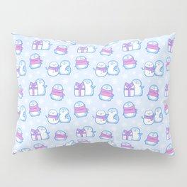 Winter Penguins // Blue Pillow Sham