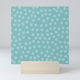 Self-love dots - Turquoise Mini Art Print