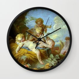 "François Boucher ""L'Amour moissonneur (The Love Reaper)"" Wall Clock"