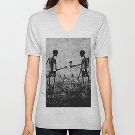 skeleton lovers Unisex V-Neck
