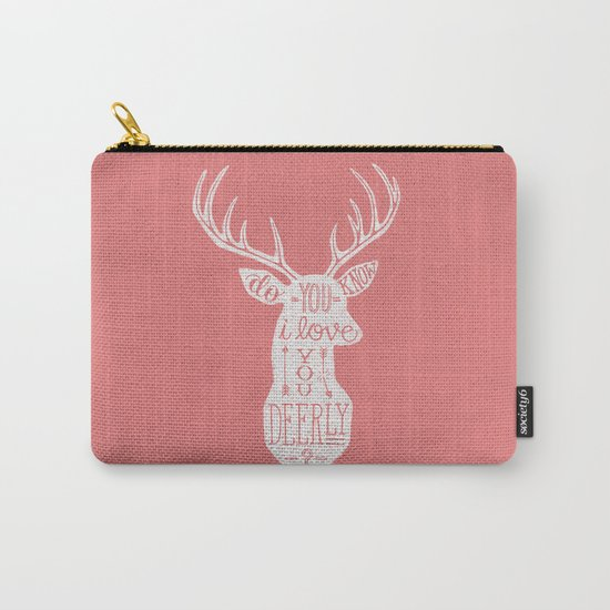 I LOVE YOU DEER - PINK Carry-All Pouch