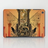 decorative iPad Cases featuring Decorative clef by nicky2342