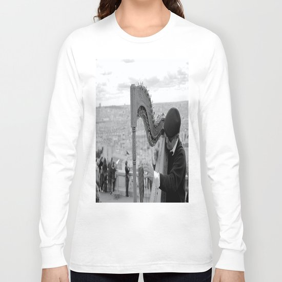 His Music Floats Down to Paris Long Sleeve T-shirt