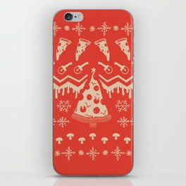 Pizza Christmas iPhone Skin