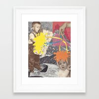 kids Framed Art Prints featuring Kids by collageriittard