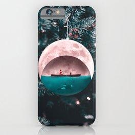 Christmas Moon - Julien Tabet - Photoshop Artwork iPhone Case