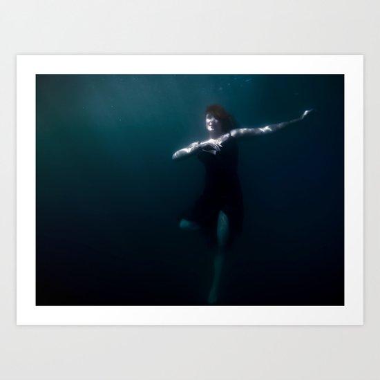 Dancing Under The Water Art Print