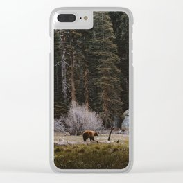 BEAR IN THE FOREST Clear iPhone Case