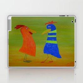 Gossiping hens 2 by Gabriele Müller Laptop & iPad Skin