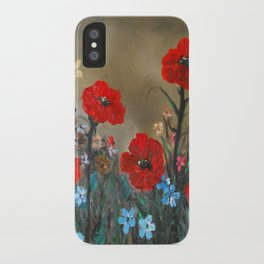 Impasto Red Poppy Love Garden iPhone Case