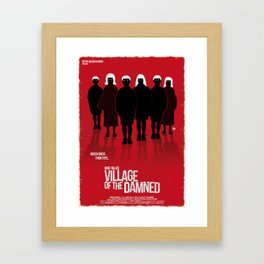 Village Of The Damned (New Version-Red Collection) Framed Art Print