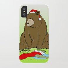 Santa Bear iPhone X Slim Case