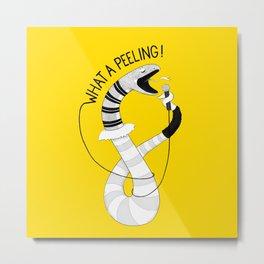 Snake singing Flashdance | Animal Karaoke | Illustration Metal Print