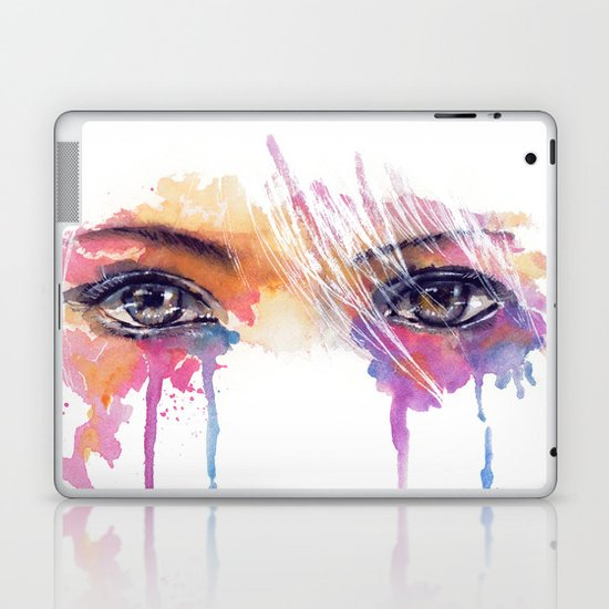 Rainbow Tears Laptop & iPad Skin