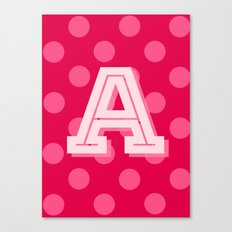 A is for Awesome Canvas Print