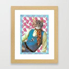 Din Dins handcut collage Framed Art Print