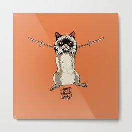 Hang in There Baby Cat Metal Print