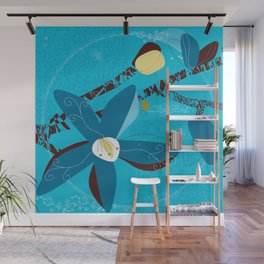Blue Saucer Magnolia Wall Mural