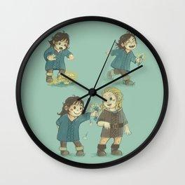 Sunshine and Flowers Wall Clock