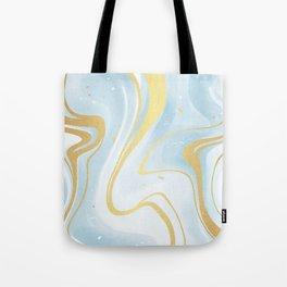 Wonder Blue Marble Glam Tote Bag