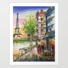 The Colours of France Art Print