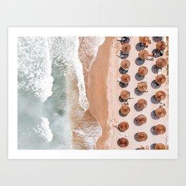 Aerial Beach Print, Beach Photography, Aerial Photography, Blue Ocean Print, Sea Beach Print Art Print