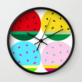 Watermelon in Fours | Watermelon Seed | Watermelon Home Decor | pulps of wood Wall Clock