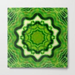 WOOD Element kaleido pattern Metal Print