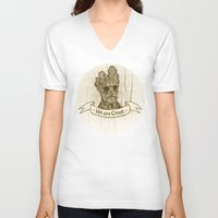 groot V-neck T-shirts featuring Groot by Lynn Bruce