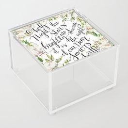 O holy night with white flowers Acrylic Box