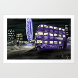 The Knight Bus Art Print
