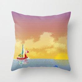 Pixelized : Wind Waker  Throw Pillow