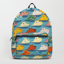Happy Hippo Family Backpack