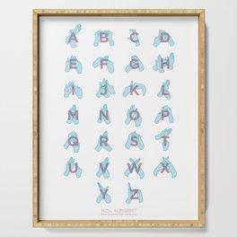 NZ Sign Language Alphabet Serving Tray