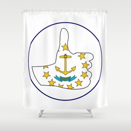 Thumbs Up Rhode Island Shower Curtain