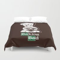 baking Duvet Covers featuring Baking Bad by Mike Handy Art